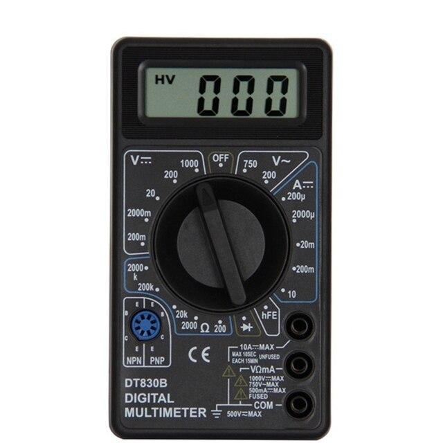 Urijk DT830B AC/DC มัลติมิเตอร์ดิจิตอล LCD 750/1000V โวลต์มิเตอร์แอมป์มิเตอร์ OHM เครื่องทดสอบความปลอดภัย Handheld เมตรดิจิตอลมัลติมิเตอร์