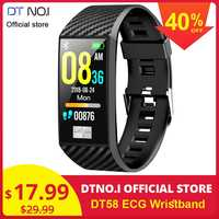 DT NO.1 DT58 Wristband ECG PPG Monitor HRV Smart Watch Sports Fitness Tracker Heart Rate Blood Pressure Bracelet IP68 Waterproof