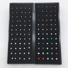 60 PCs Boxed L-Shaped Nose Stud Diamond Set Nose Stud Body Piercing Jewelry Wholesale Nose Ring Piercing Jewelry(China)
