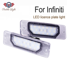 цена на 2Pcs 18-SMD Led Number License Plate Light For Infiniti Fx35 Fx45 Q45 Q60 Q70 I30 I35 G25 G35 G37 M35h M37 M56 by PAISION
