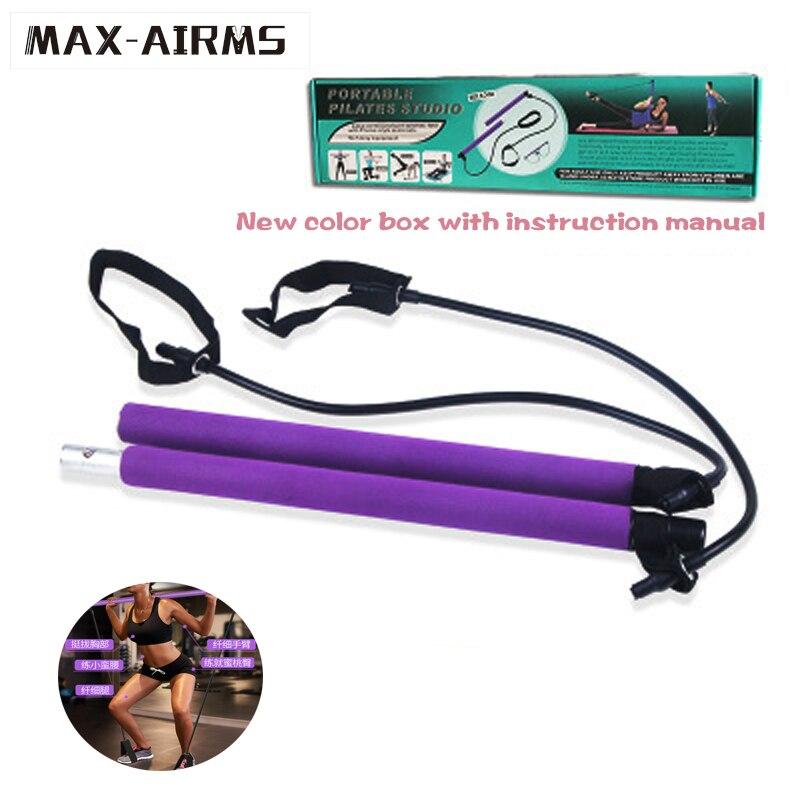 Maxairms Yoga résistance bande Pilates bâton intérieur extérieur équipement de Fitness Pilates Sport entraînement entraînement bandes élastiques