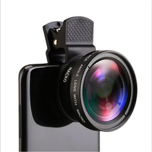 Universal 2 in 1 0.45X Super Wide Angle 12.5X Super Macro Lens HD Camera