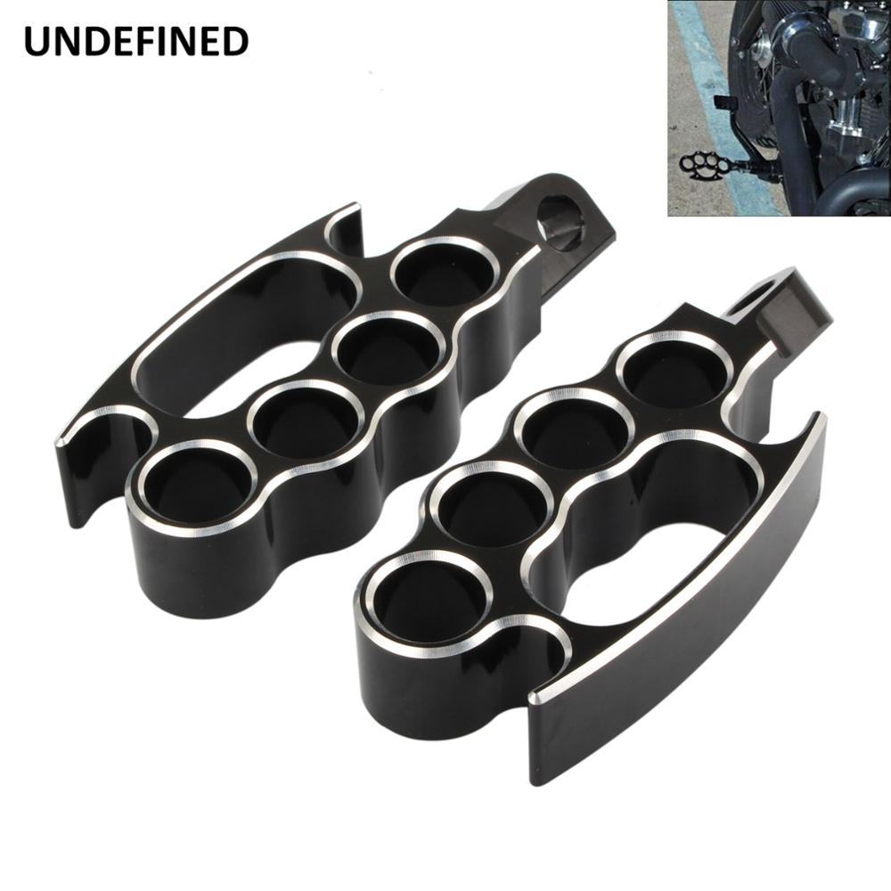 Motorcycle Flying Foot Pegs Footrests Control Mini Floorboards Pedal Black For Harley Sportster XL883 Dyna Softail V-Rod FXDL