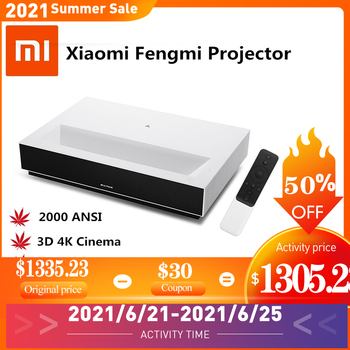 Fengmi Projetor 4KFull HD 3D Portátil - 150 polegadas ALPD Bluetooth 4.0 MIUI TV Projetor HDMI 1