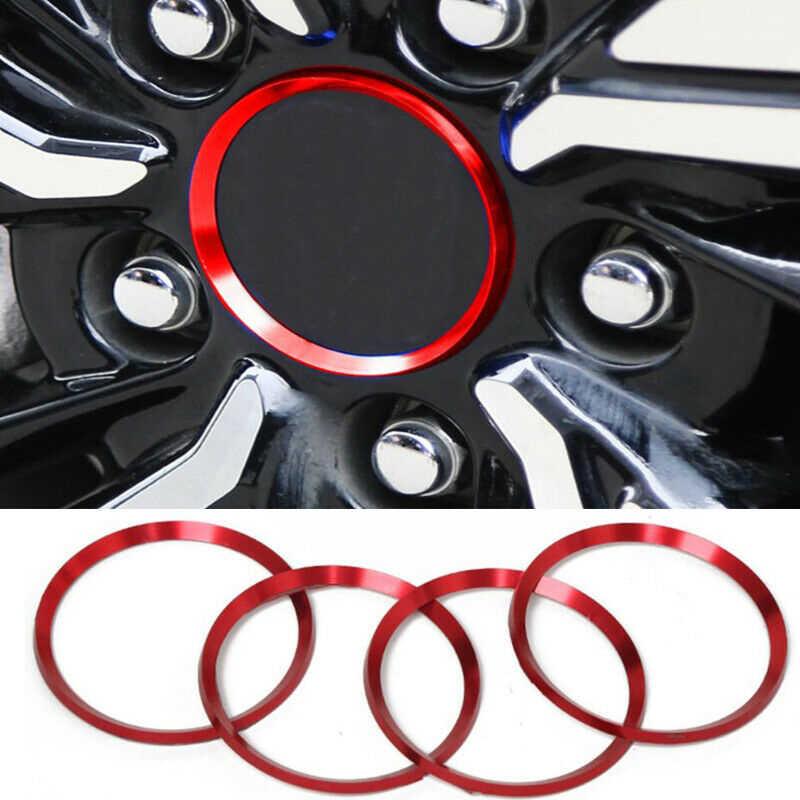 4Pcs גלגל מרכז חישוקים רכזת לוגו דקור טבעת מכסה אדום אלומיניום סגסוגת עבור טויוטה קאמרי 2018 2019 רכב סטיילינג accewssoreies