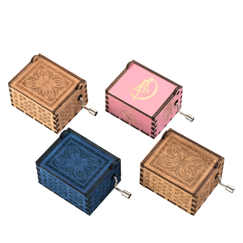 Wooden Music Box Classic Power Game Theme Music Box Music Box Music Box Gift Children's Toys Furniture Decoration Christmas Gift