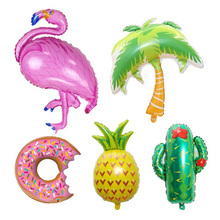 AVEBIEN Hawaiian Party Decoration Balloon Pineapple/Donut/plant/Flamingo Aluminum Wedding ins Foil Ball