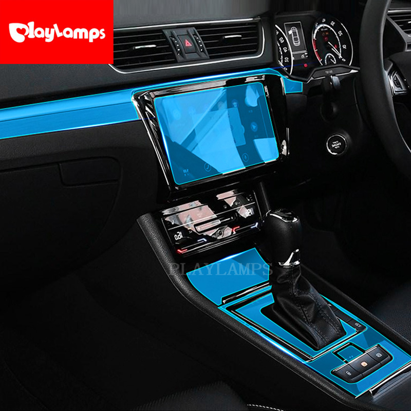 Car Styling For Skoda Superb Soft TPU Protection Film For Skoda Superb Covers Stickers 2016 2017 2018 Car Accessories RHD