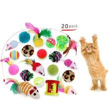 20 шт набор игрушек для кошек милая и интересная палочка Пластиковая