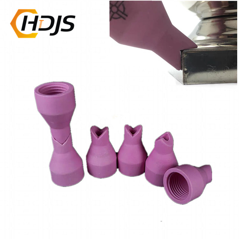 10pcs/QQ150 Thicken Gas Nozzle Ceramic Shield Cups Inner And Outer Corners Welded Porcelain Nozzles Welding Machine Accessories