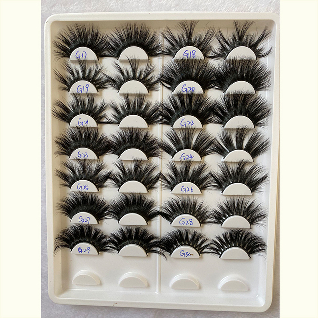 25 Mm Mink Eyelashes Faux 3d Mink Lashes Bulk Wispy Strips False Eyelashes Natural Extensions Individual Fake Lashes Fluffy 4