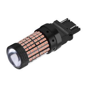 Image 5 - 1156 BA15S P21W 1157 BAY15D P21/5W 3157 3156 T20 7443 W21/5W 7440 W21W BAU15S 144 Led ampul araba fren lambası otomatik ters lamba