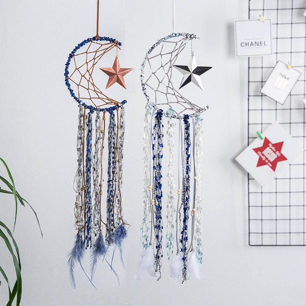 Moon Star Dream Catcher Decor Baby Room Decoration Wall Hanging Bedding Bumpers Kids Party Kids Girls Room Decor