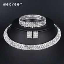 Hot Sell Free Shipping CZ Rhinestone Crystal Party Wedding Bridal Jewelry Sets including Choker Necklace Earrings and Bracelet 2018 new arrival exaggerated big necklace and earrings jewelry sets austrian crystal for wedding or party ethnic free shipping