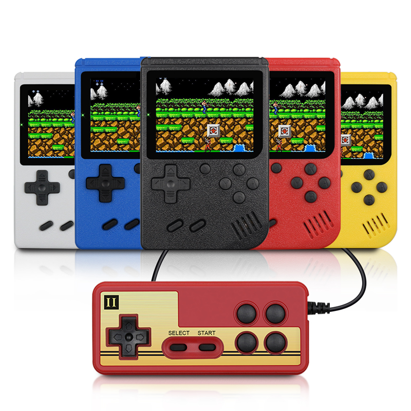 Retro Portable Mini Handheld Game Console 1020mAh Battery 3.0 Inch Color LCD Kids Color Game Player Built-in 400 Games