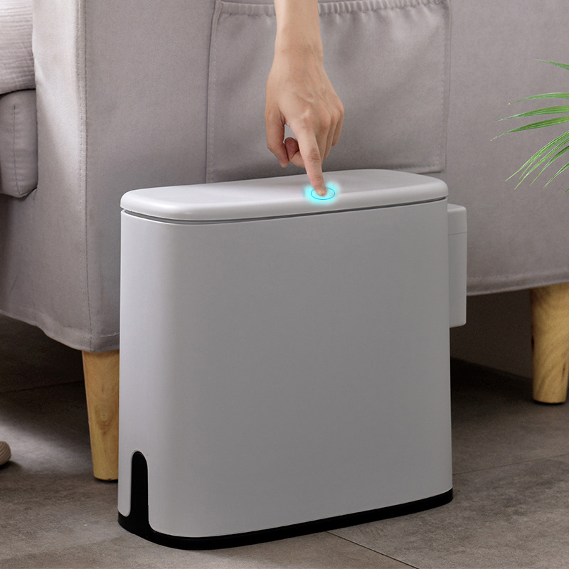 11L Plastic Waste Bin Narrow TypeTrash Can Toilet Dustbin Trash bin Basket Garbage Bucket Brush Bathroom Cleaning Dropshipping