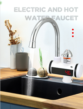 6p cycle heating air source heat pump water heater makes use of low grade heat to get high grade heat for getting hot water 3300W Water Heater Faucet Boiler Tap Heating Bathroom Hot Water Shower Tankless Heater Heat   Electric 220V
