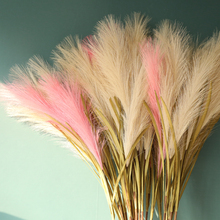 1pc Artificial plant Simulation single reed grass green potted Forest Wedding Flower Bunch Dog Tail Grass Silk Flowers
