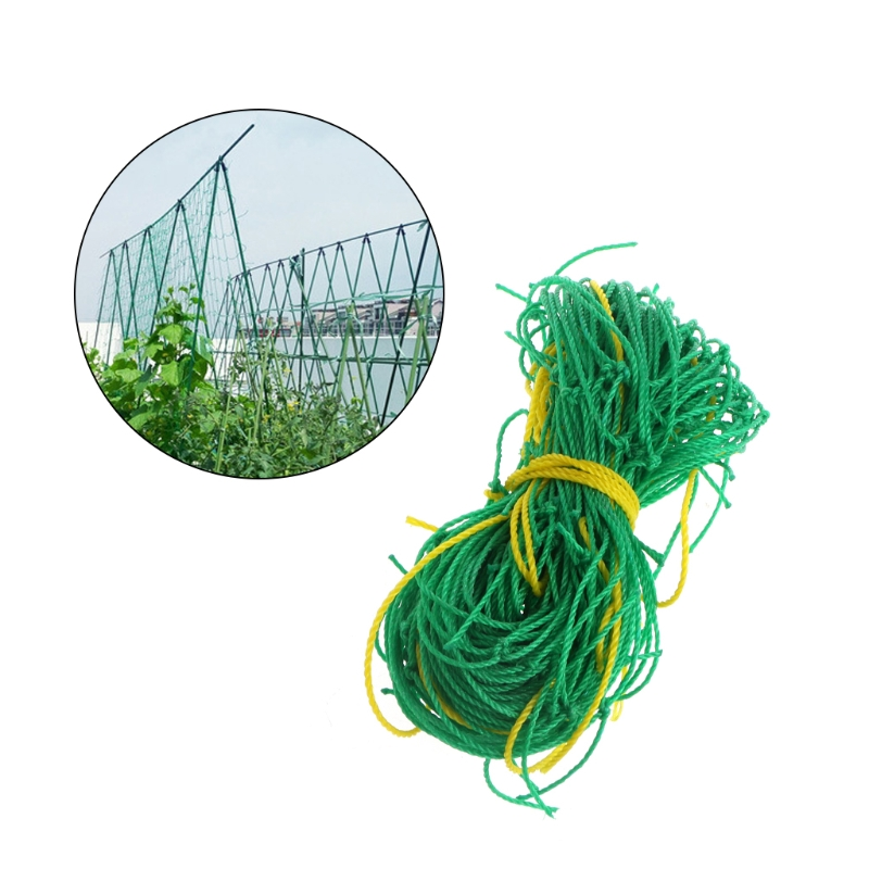 Garden Green Nylon Trellis Netting Support Climbing Bean Plant Nets Grow Fence F1FC