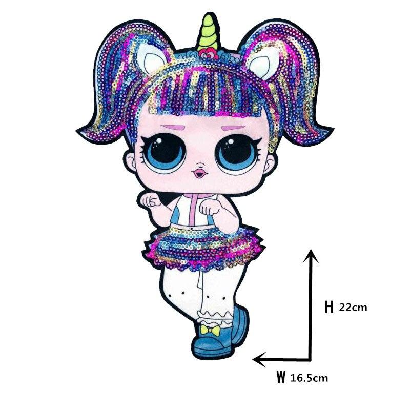 Мультяшные нашивки женские модные куклы лол для девочек Милая Модная Кукла-мальчик вышивка на одежду ручная работа украшение одежды Блестки Ткань - Цвет: WW-6