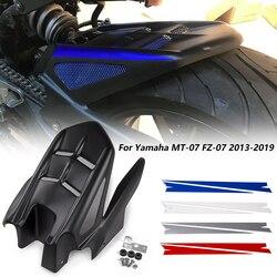 Motocykl błotnik tylny błotnik opona Hugger ABS z tworzywa sztucznego do 2013 2014 2015 Yamaha FZ07 MT07 MT FZ 07 FZ-07 MT-07 niebieski czarny