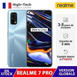 Глобальная версия Realme 7 Pro смартфон 8 ГБ 128 6,4 дюймAMOLED Snapdragon 720G 64-мегапиксельная четырехъядерная камера 32MP селфи-штепсельная вилка европейского с...