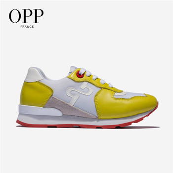 OPP Women's Shoes Fashion Candy Color Sneakers Summer Breathable Lightweight Sports Shoes Ladies Leather Running Shoes
