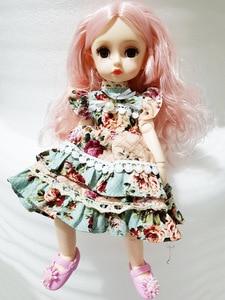 Image 5 - New 1/6 Princess Dressup Doll BJD 26cm Beautiful Girl Doll with Dress