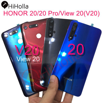 For Huawei Honor 20 / 20 Pro Back Battery Cover 20S YAL-AL50 Rear Housing Door Case+Camera Lens Honor View 20 Battery Cover original rear camera lens for huawei honor 20 pro camera glass lens back camera frame for honor 20 10i 20i camera lens frame