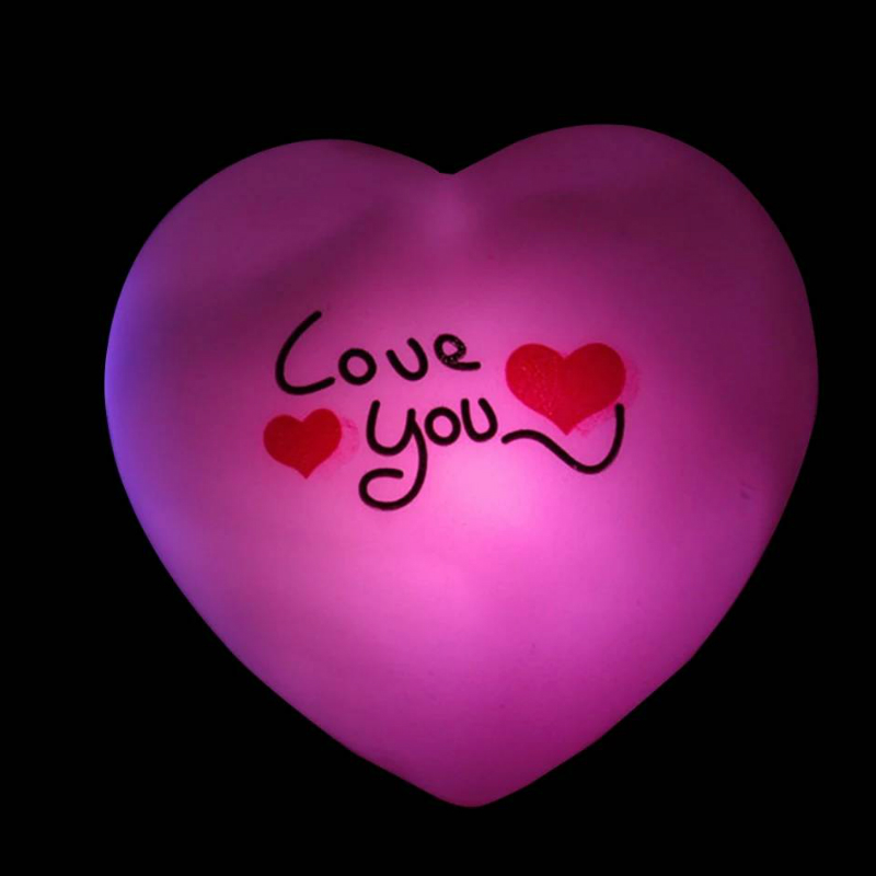 Colorful Lover Heart LED Small Night Light Romantic Atmosphere Wedding Decoration Bedroom Lamp For Valentine's Day Holiday Gifts
