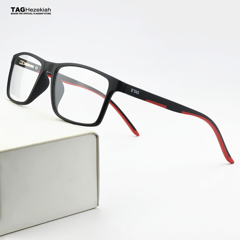 2020 TAG Brand TR90 Glasses Frame Men Myopia Computer Spectacle Frames Women Ultra Light Square Eye Glasses Frames For Men TH502