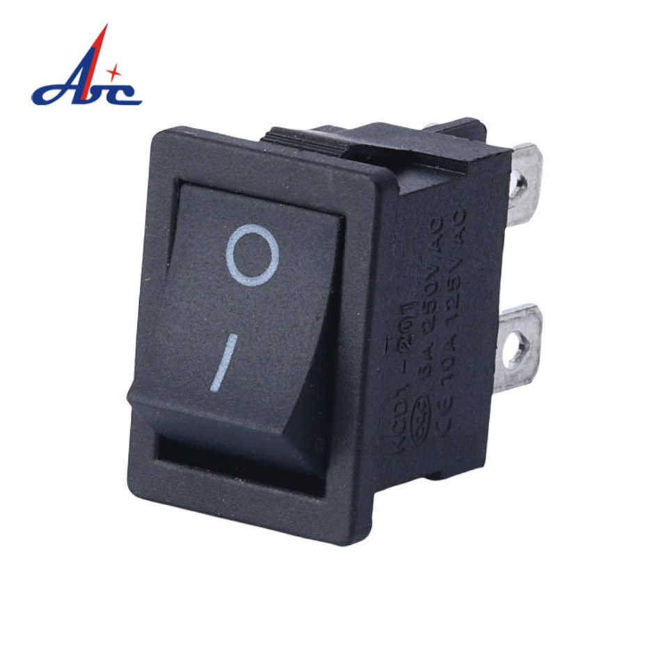 SCI R13-23A negro sin bloqueo interruptor pulsador Negro