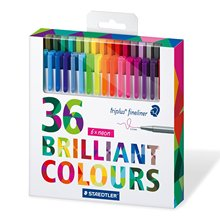 STAEDTLER triplus fineliner Pens 0.3mm Marker metal clad Tip Color line pen needle pen gel pen 15/36colors DP040