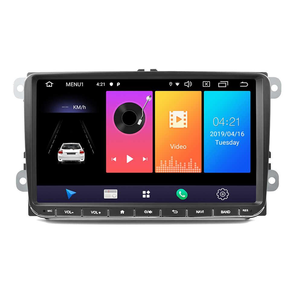 "Hikity الروبوت 9.0 سيارة مشغل وسائط متعددة 2 الدين RDS راديو السيارة ستيريو 9 ""GPS والملاحة Wifi FM لاعب لشركة فولكس فاجن باسات جولف MK5 سيارات"