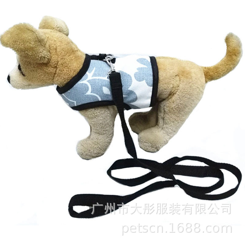 New Style Pet's Chest-back Elegant Canvas Dog Chest And Back Traction Belt Pet Supplies