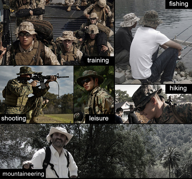 Tactical Boonie Hat Army Fisherman Cap Military Training Sun Protector  Hat Outdoor Sports Camouflage Fishing Hiking Hunting Cap 5