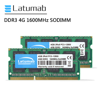 Latumab RAM DDR3 4GB 8GB 16GB 1600MHz Laptop Memory PC3-12800 SODIMM Memory 204Pin 1.5V Notebook Memory Memoria DDR3 RAM Module ddr3l 8gb memory ram 1600mhz 1 35v sodimm ram 204pin laptop ram for amd ddr3 motherboard