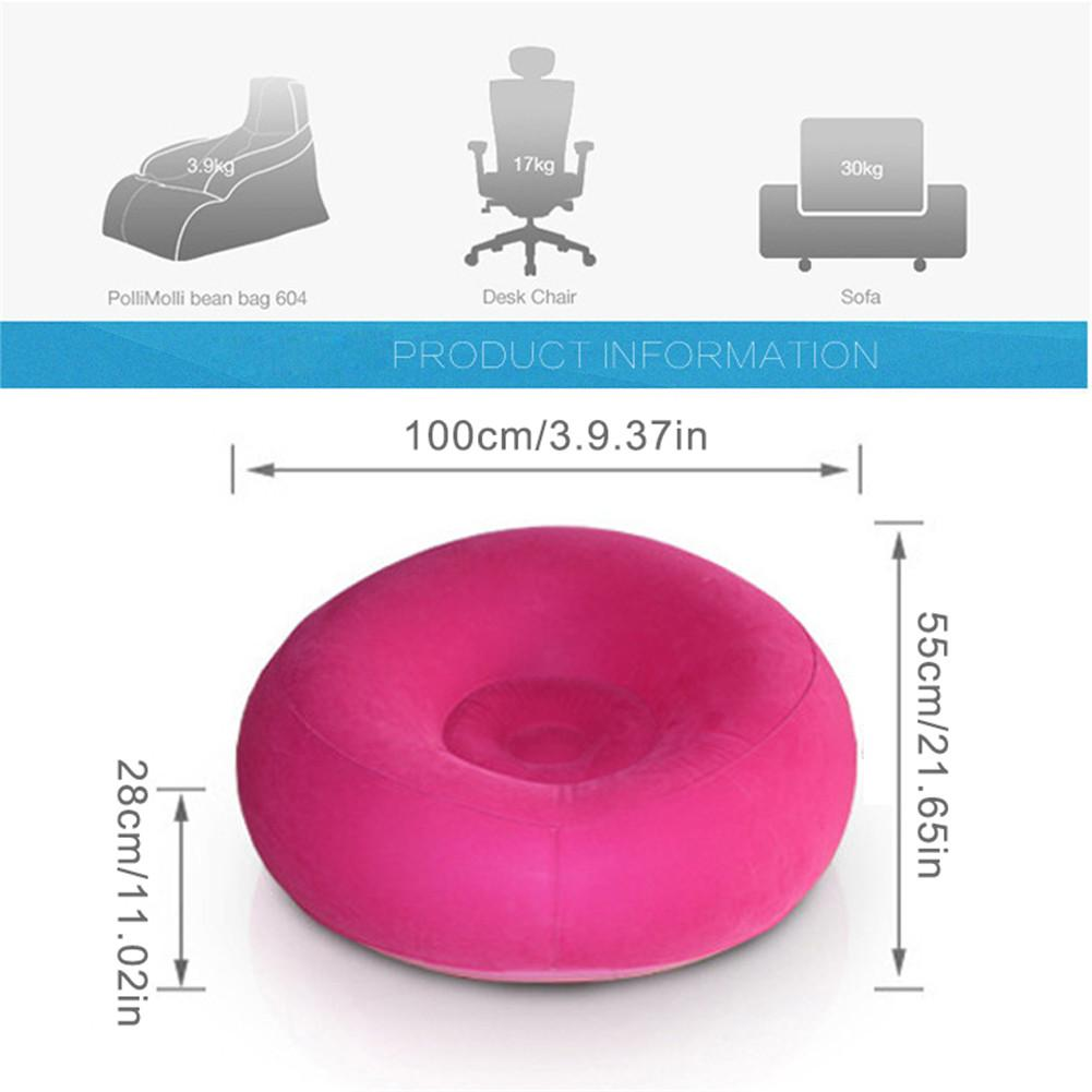 Large Bean Bag Lazy Sofas Made Of Flocking Material for Indoor Outdoor Tatami Seat