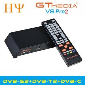 Image 2 - Gtmedia V8 Pro2 DVB S/S2/S2X,DVB + T/T2/כבל (J83.A/B/C)/ISDBT bulit WIFI תמיכה מלא PowerVu, דרה & מפתח ביס