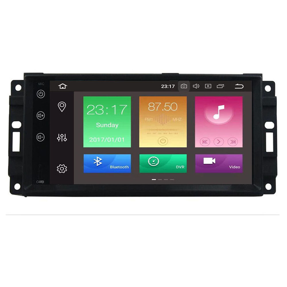 New 7Inch Android 9.0 Car Stereo For Jeep Grand Cherokee Chevrolet Commander Dodge <font><b>Chrysler</b></font> <font><b>300C</b></font> Player DVR TPMS DAB Free camera image