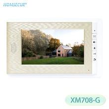 HOMSECUR XM708-G 7 дюймов Крытый мониторы золотой цвет для видео домофон