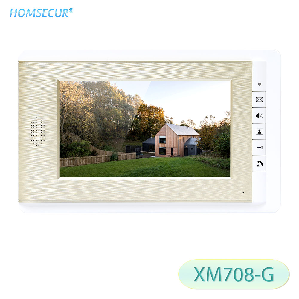HOMSECUR XM708-G 7inch Indoor Monitor Golden Color For Video Door Phone Intercom