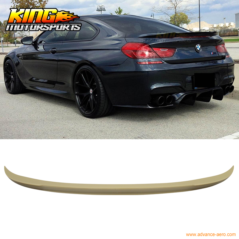 Fit For 2012-2015 <font><b>BMW</b></font> F13 6-Series <font><b>F06</b></font> Unpainted ABS Rear Trunk <font><b>Spoiler</b></font> image