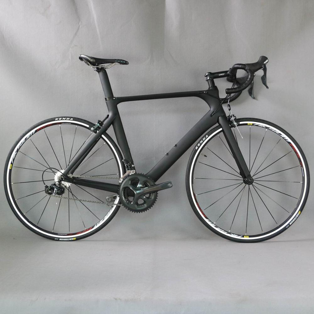 Complete bike  700C Carbon Fiber Road Bike Complete Bicycle Carbon Cycling BICICLETTA Road Bike SHI 4700 20 Speed Bicicleta Bicycle     - title=