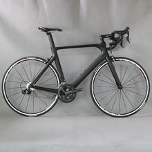 Kompletny rower 700C z włókna węglowego rower szosowy kompletny rower węglowy BICICLETTA rower szosowy SHI 4700 20 prędkości Bicicleta tanie tanio SERAPH Unisex 8 2KG 150 kg Gumowy odporność (medium biegów bez tłumienia) 150-190cm 0 1 m3 Zwyczajne pedału Rama twardego (nie tylny amortyzator)