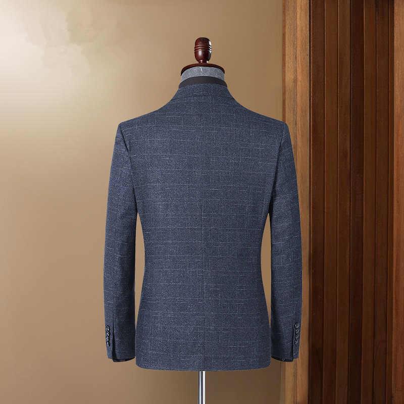 BOLUBAO marka mężczyźni marynarka moda męska w paski drukuj marynarka jesienno-wiosenna kurtka Business Casual Style męskie formalne marynarki