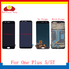 For Oneplus 5 5T LCD Display Touch Screen Digitizer Assembly Complete With Frame For One plus A5000 A5010 LCD Replacement цена