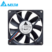 For delta AUB0812HHB 8015 12V 0.24A 8cm 3 wires 4 wires Silent Double Ball Computer Case Fan