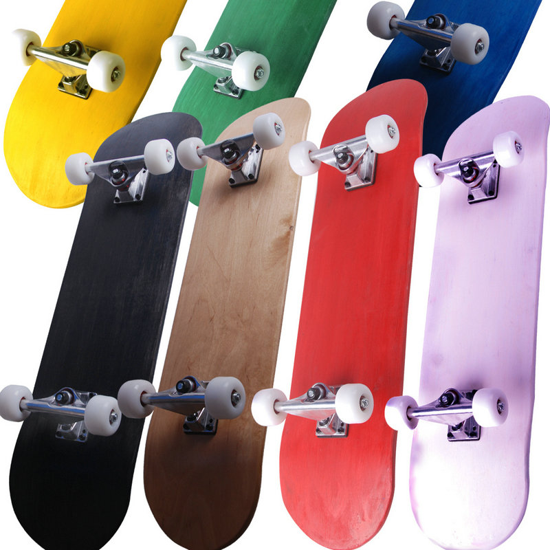 New Pure Color Skateboard Four-Wheel Double Maple Skateboard 5 Inches Magnesium Aluminum Alloy Truck Bridge