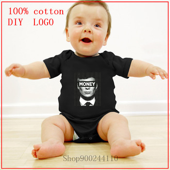 Peaky Blinders Money Newborn Baby Bodysuit High Quality 100% Cotton Short Sleeve Clothes new born baby boy clothes 3 to 6 months image